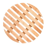 대나무 기선 밥솥 가정용 워터 랙 라운드 기선 찐 냄비 매트 가정용 기선 랙 기선 랙 (11in)| |   -