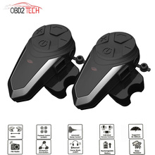 BTS3 Helmet Intercom Motorcycle Helmet Intercom Waterproof Walkie talkie Stereo Interphone With FM Wireless Bluetooth Headset