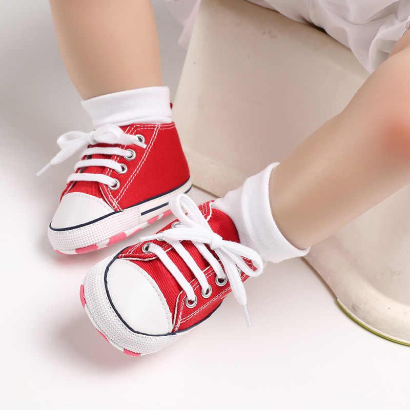 ทารกแรกเกิดเด็กชายหญิงผ้าใบรองเท้าลูกไม้สีแดง UP แรก Walkers นุ่ม Breathable ทารกเด็กวัยหัดเดิน Prewalker 6 - 12 เดือน
