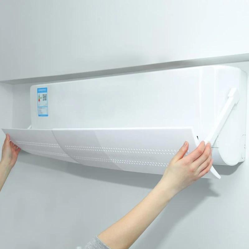 Retractable Air Conditioner Wind Shield Anti Direct Blowing Air Deflector Baffle