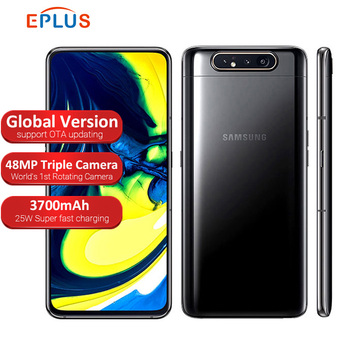 Перейти на Алиэкспресс и купить Новый samsung Galaxy A80 A805F/DS LTE мобильный телефон 6,7 дюйм8 ГБ ОЗУ 128 Гб ПЗУ Snapdragon 730 Android 3700 мАч NFC две sim-карты