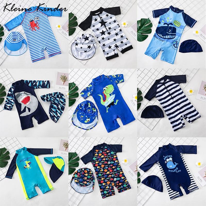 Baby Boy stroje kąpielowe strój kąpielowy jednoczęściowy strój kąpielowy dla dzieci ochrona UV nadruk rekin strój kąpielowy dla chłopców odzież plażowa