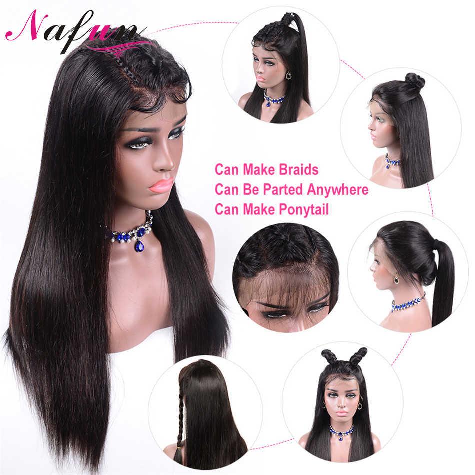 Peruca completa do laço 13x 4/13x6 perucas frontais do cabelo humano do laço peruano em linha reta perucas da parte dianteira do laço para as perucas transparentes do laço do cabelo de remy das mulheres