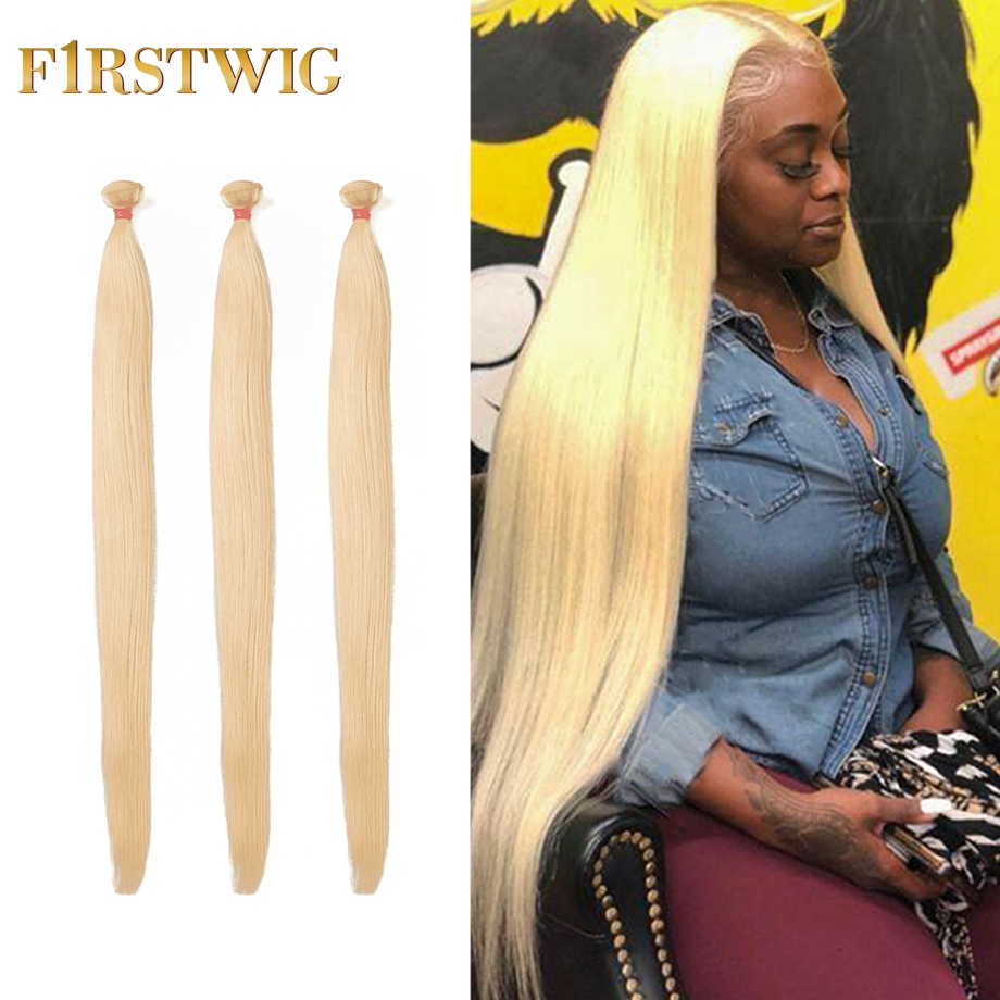 30 40 Inch Honey Blonde 613 Straight Brazilian Hair Weave Bundles Short Human Hair Long Bundles Extension Pieces For Black Women