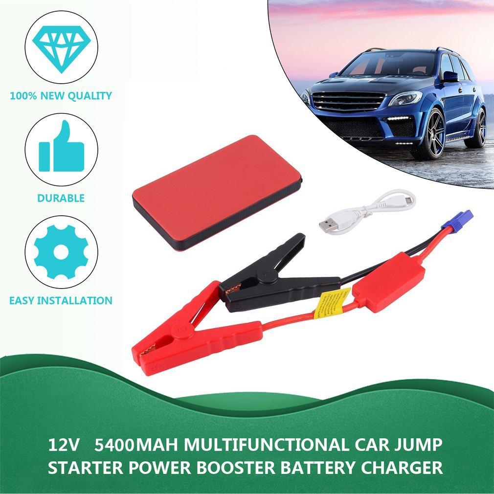 12V 5400mAh Multifunctional Car Jump Starter Power Booster Battery Charger