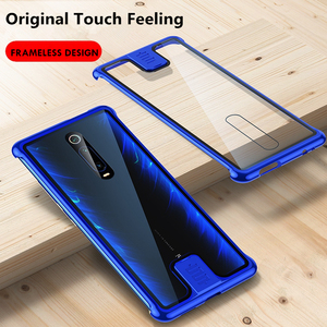 Image 2 - OMEVE for Xiaomi Mi 9T Case Frameless Metal Bumper and Tempered Glass Back Cover for Xiaomi 9T Pro/ Redmi K20 K20 Pro Phone Case
