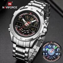 NAVIFORCE Luxury Watches Mens Waterproof Analog Alarm Digital Sport Military Qua