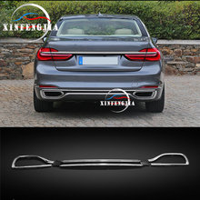 For BMW 7 Series G11 G12 16-19 3x Car Rear Bumper & Rear Cylinder Exhaust Cover Decorate Car Bumper Rear Lip Rear Spoiler Refit