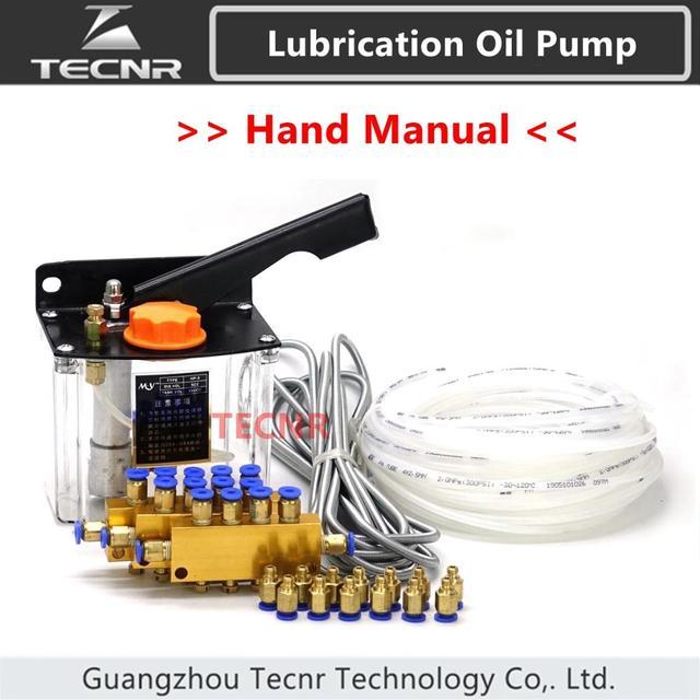 Cnc bomba de óleo manual 600cc para máquina cnc sistema de bomba de lubrificação de óleo tecnr