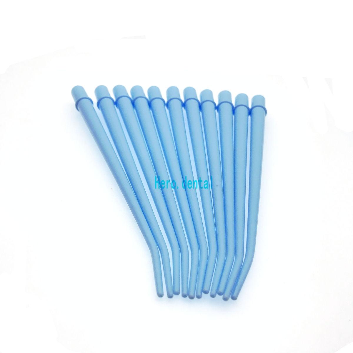25Pcs Dental Curved Tips Sterilized Surgical Aspirator Dental Saliva Ejector