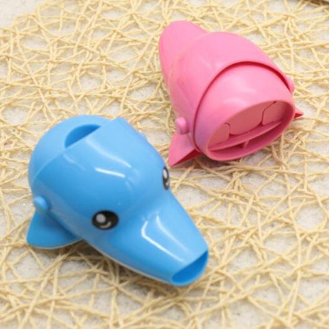 Kawaii Children Faucet Extender Sink Handle Extension Toddler Kid Bathroom Children Hand Wash Tools Extension 4