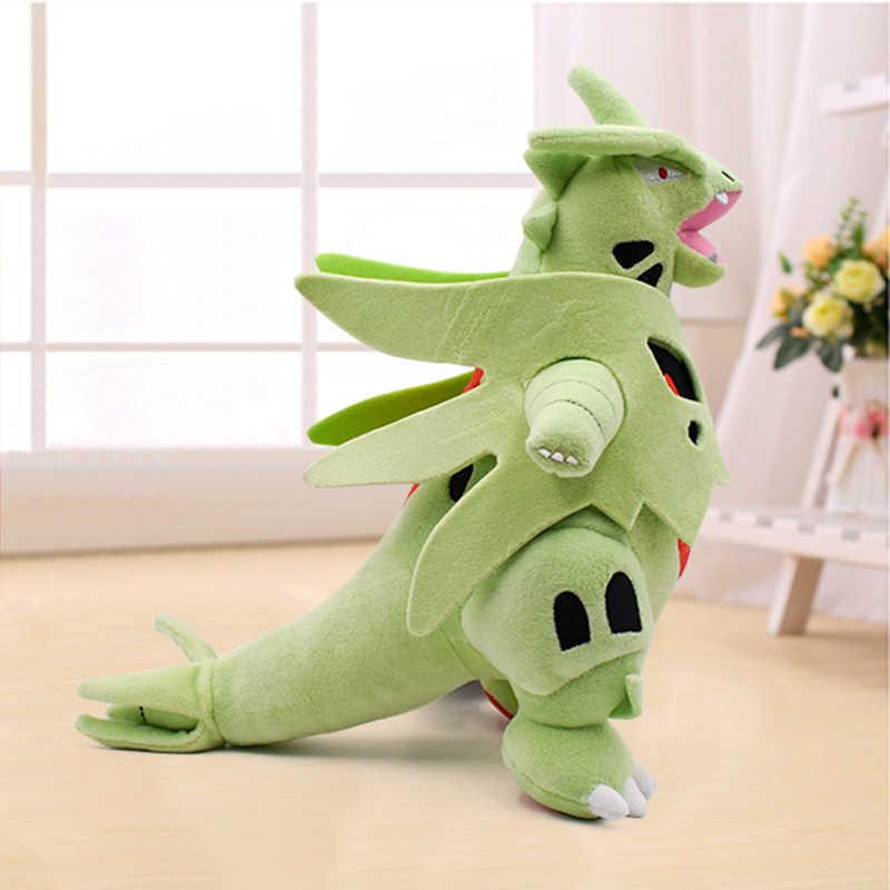 Preço de atacado 35cm mega tyranitar pelúcia animal boneca anime dos desenhos animados brinquedos de pelúcia crianças natal ótimo presente varejo