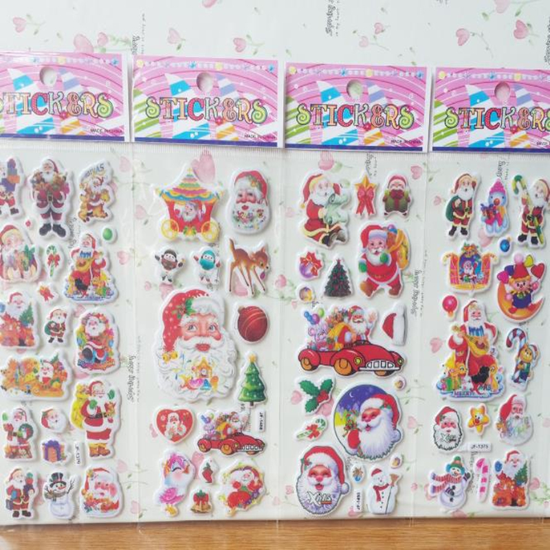 100 Sheets/Set Christmas Santa Snowman Tree Stickers For Kids Home Decor On Laptop 3d Sticker Decal Fridge Skateboard Doodle Toy