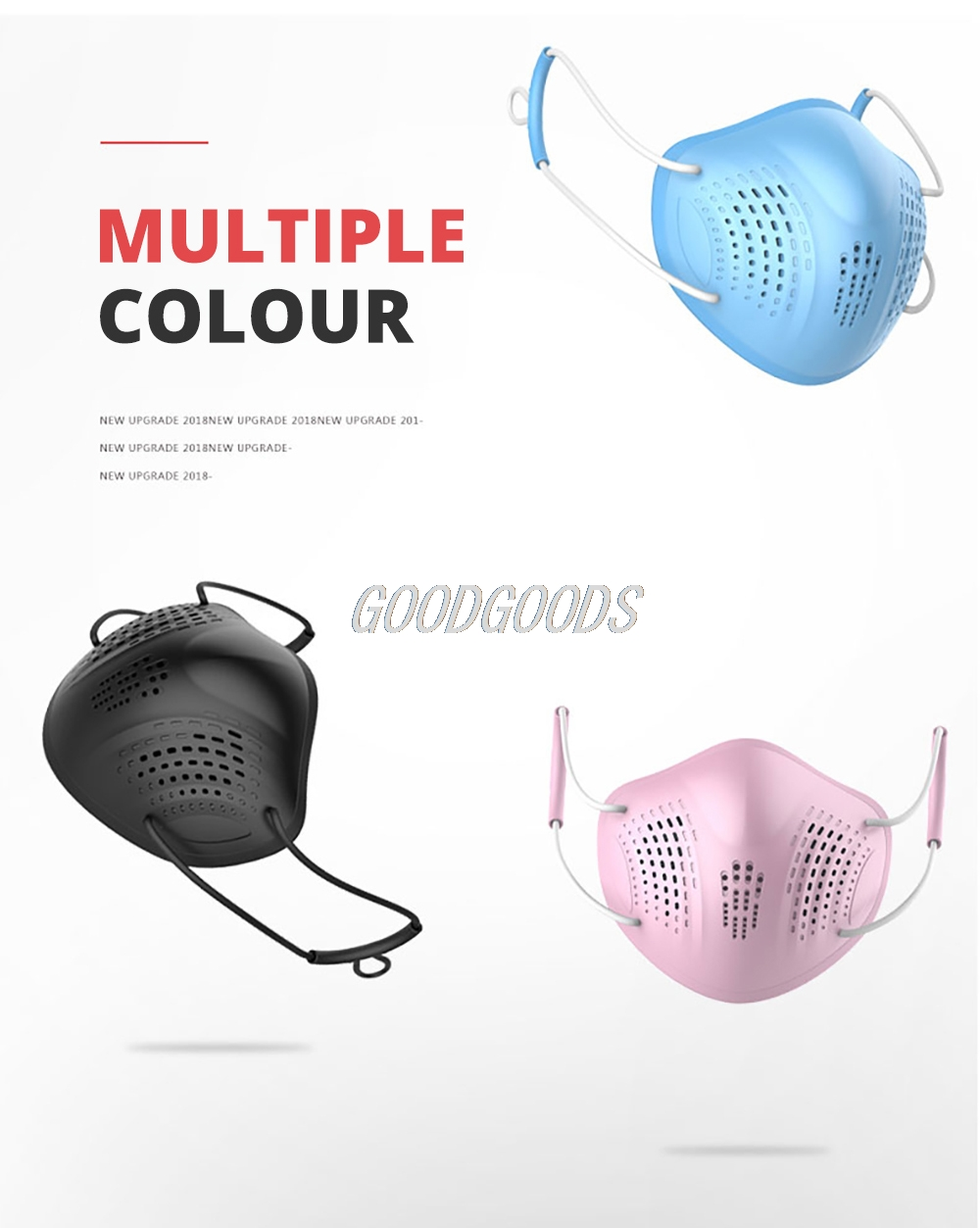 Hef86607a6b9f43b7aea3d8c012b19ff0K Silicon Face Mask Dustproof Mask Facial Protective Cover Washable Masks Anti-Dust Bacteria Proof Facemask PM2.5 Pollution