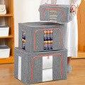 3D ящик для хранения бытовой ткань Оксфорд Портативный одеяло для хранения чехол складной стальной каркас одежда Контейнер большой шкаф-куп...