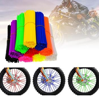 Motorcycle Accessories 72 Pcs Universal Spoke Skins Covers 17 cm/6.7 Dirt Bikes Wheel Spoke Decoration Protection Cover 36pcs motorcycle bick wheel rim spoke skins covers wrap tubes decor