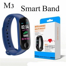 Hot Selling Unisex M3 Color Screen Smart Band Bracelet Watch Fitness Activity Tracker Sport Wristband For men women Child gift(China)