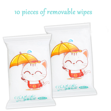 6 packs/bags removable portable packets wet wipes 10 sheets/package disposable