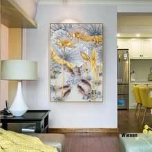 Современная Картина на холсте с искусственными рыбами абстрактный