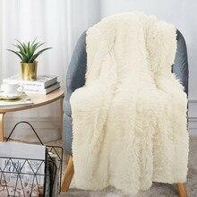 Плюшевое одеяло из искусственного меха, двустороннее пушистое покрывало, мягкий теплый детский подарок, DEC889