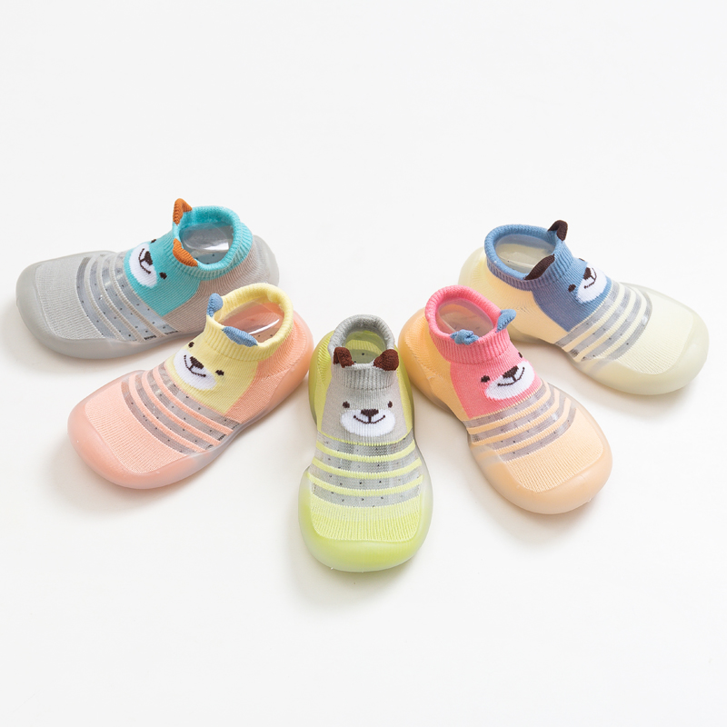 Baby Cartoon Animal Soft Rubber Sole Shoes Baby Boy Shoes Socks For Spring Summer