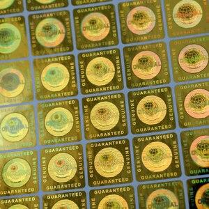 Image 4 - Etiqueta global garantida genuína do holograma da prata do vácuo e original em 20x20mm no quadrado