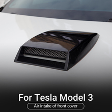 for tesla model 3 2 color Universal Car-Styling Turbo Bonnet Vent Cover Hood Air Flow Intake accessories Decorative Sticker Exte 3 color car styling universal decorative air flow intake scoop turbo bonnet vent cover hood silver white black car styling