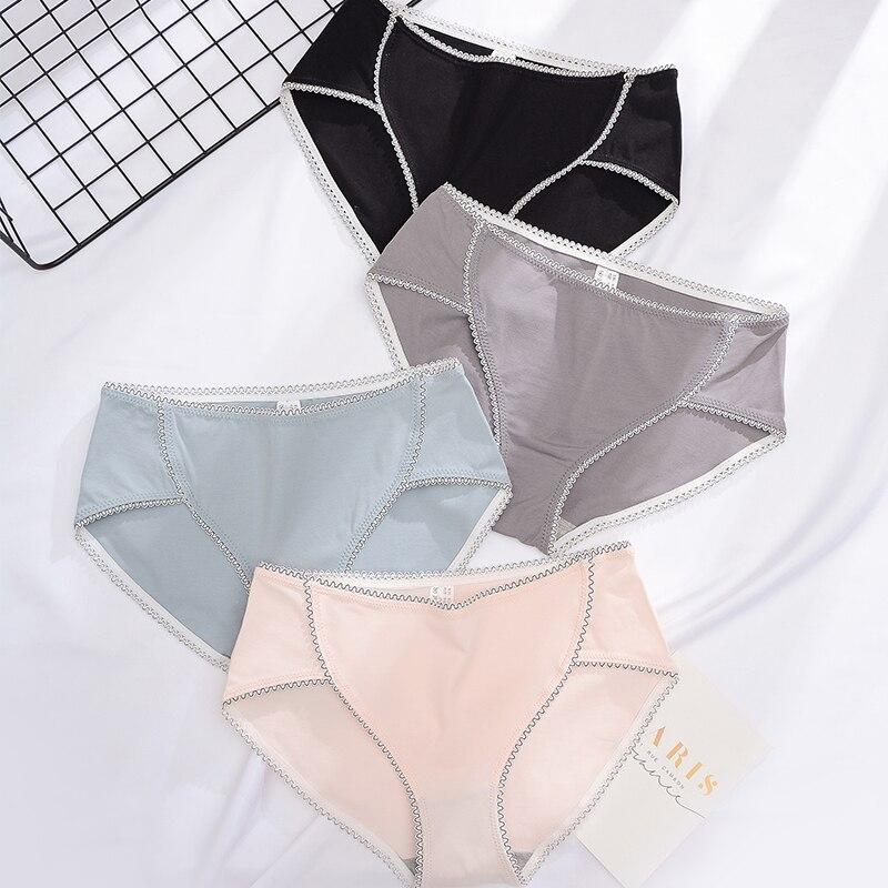 Underwear Women fashion Cotton Women Panties CottonBriefs Lingerie Seamless Underpants Women's Intimates