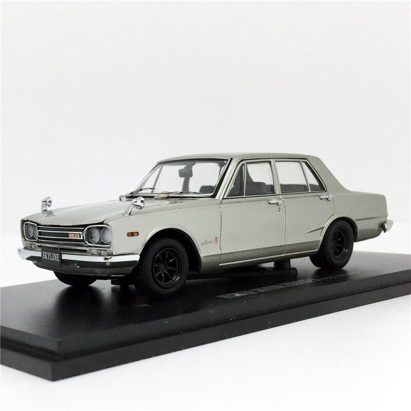 Kyosho 1:43 Nissan Skyline 2000GT-R 4 Doors 1969 PGC10 Wide Wheel Rim (Silver) Model Vintage Car