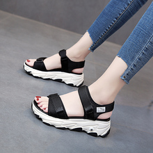 New women's sandals, large wedge wedge shoes, platform shoes, sandals, summer style, 2020 style, , women's platform sandals цена 2017