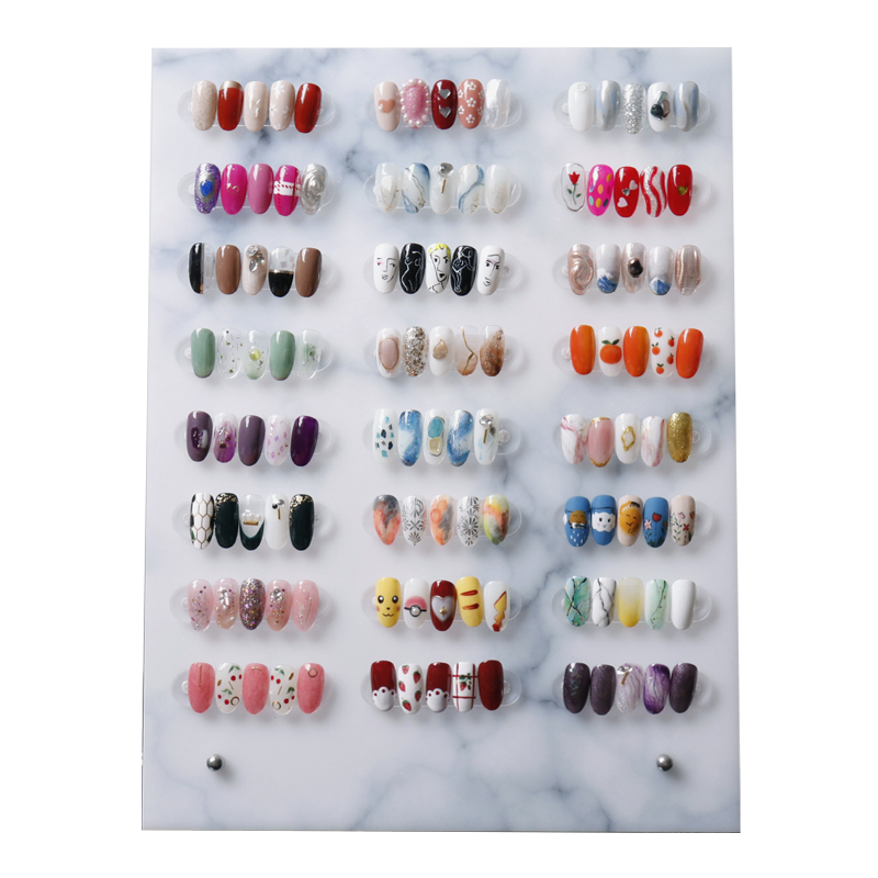 High Quality False Nail Tip Art Display Stand Board Magnet Adsorption Detachable Color Card Showing Shelf