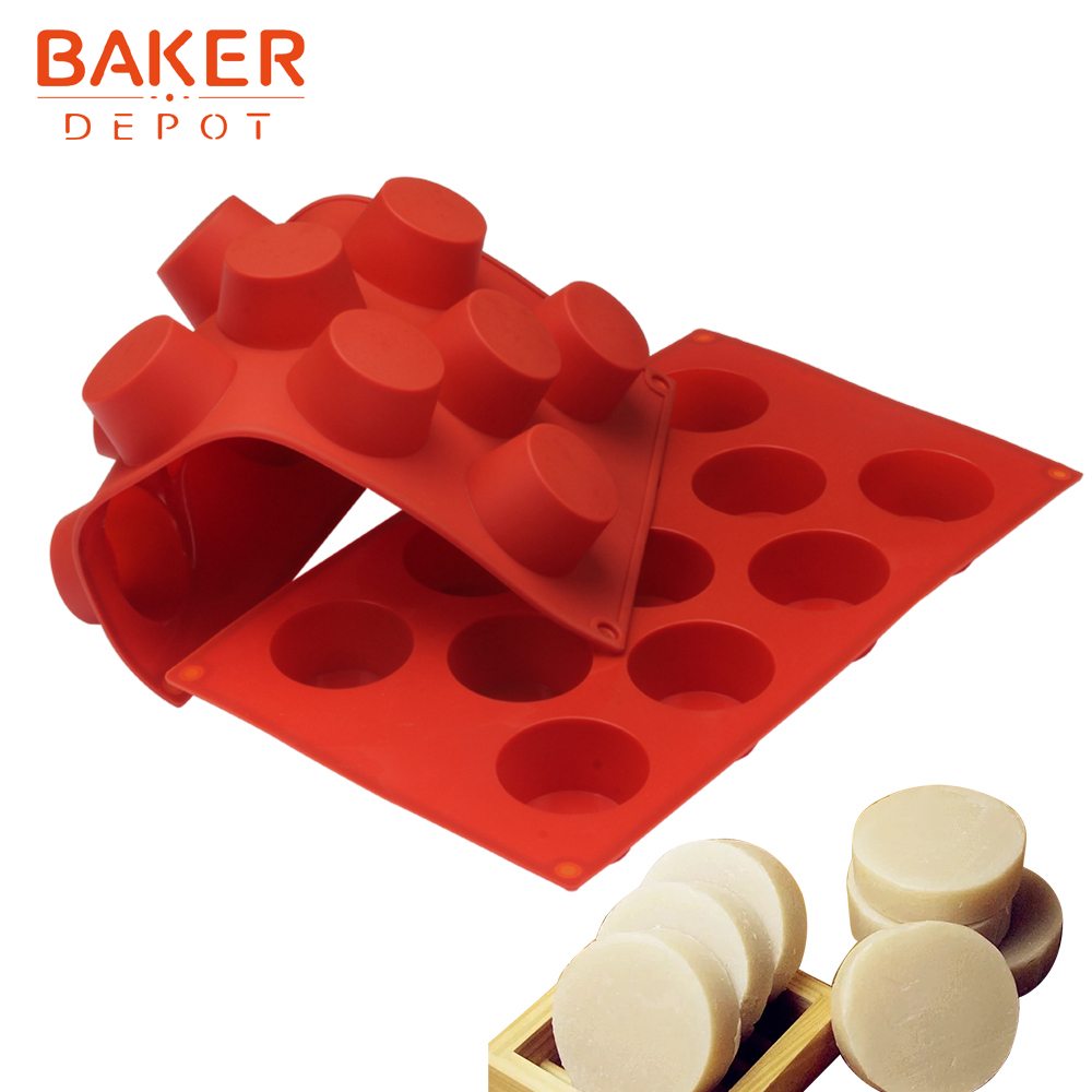 <font><b>BAKER</b></font> <font><b>DEPOT</b></font> Handmade Soap resin fondant Mold Silicone mould for Muffin Cupcake Cake pastry bakeware round pudding jello form image