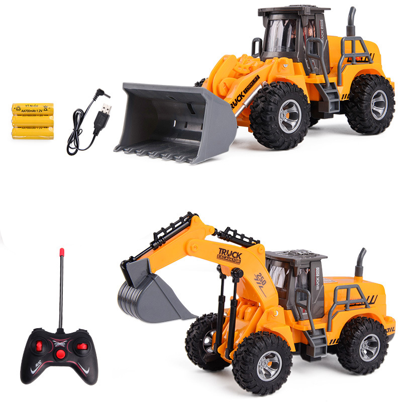 New RC Truck Toy Remote Control drilling Truck for Children Crane Bulldozer Remote Control Excavator Electric Construction Toy|RC Cars| | - AliExpress