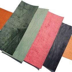 Натуральная крашеная фанера из клена для мебели, приблизительно 20 см х 2,5 м 0,5 мм, оранжево-красный, черный, зеленый, фиолетовый