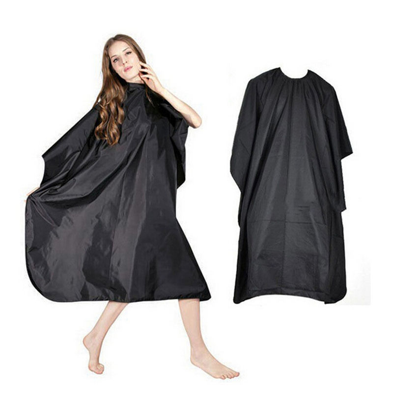 Black Hairdresser Cape Multifunction Camping Mat FEFS Outdoor Waterproof Hairdressing Cloth Adult Camping Hiking Cape Gown Wrap