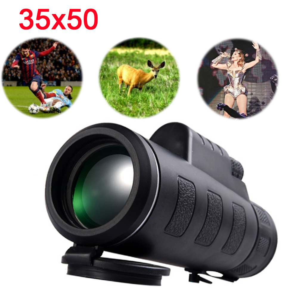 High Power Binoculars Profesional Night Vision Monocular 35x50 Telescope Optical Spyglass Monocle for Hunting Spotting Scope Monocular/Binoculars     - title=