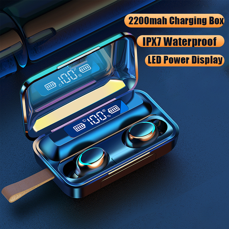 <font><b>Bluetooth</b></font> 5,0 Kopfhörer 9D Stereo Mini Drahtlose Ohrhörer Drahtlose Kopfhörer TWS <font><b>Sport</b></font> Wasserdichte Kopfhörer Für IPhone Android image