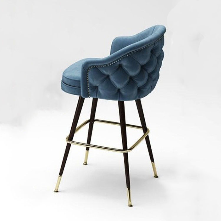 American Solid Wood Bar Chair Simple Leisure Chair High Stool Nordic Creative Fashion Bar Stool Reception Bar Chair
