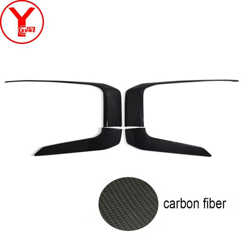 Fit For Mitsubishi L200 Triton 2019 2020 2021 ABS Carbon Fiber Front Side Bumper Cover Trim Front Under Cover lower Lip Bumper