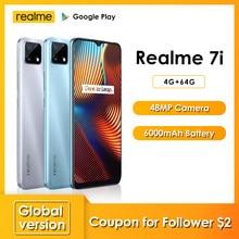 Realme 7i najnowsze smartfony 6.5 Cal HD Helio G85 Octa Core 4GB 64GB 6000mAh 48MP AI Quad Camera Android 10 LTE telefony komórkowe