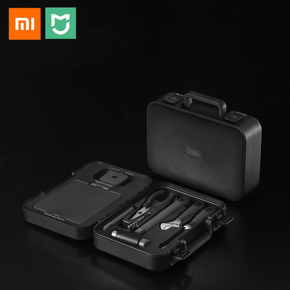 NEW Xiaomi 16PCS DIY Tool Kit Toolbox General Household Hand Tool With Screwdriver Wrench Hammer Tape Plier Knife Repair Tools