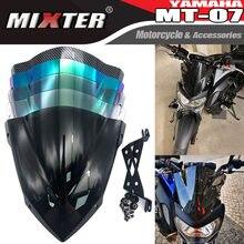 WindScreen Windshield Dos Esportes da motocicleta do transporte do Vento Defletor Para YAMAHA MT07 MT-07 07 MT 2014 2015 2016 2017 2018 2019 2020 FZ07 FZ-07
