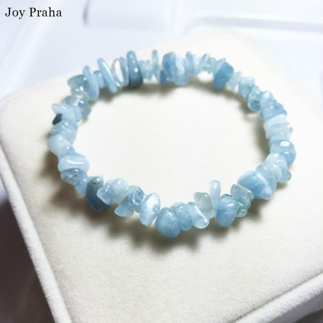 Natural aquamarine bracelet anklet / Gravel bracelets transport crystal women jewelry / wholesale dropshipping