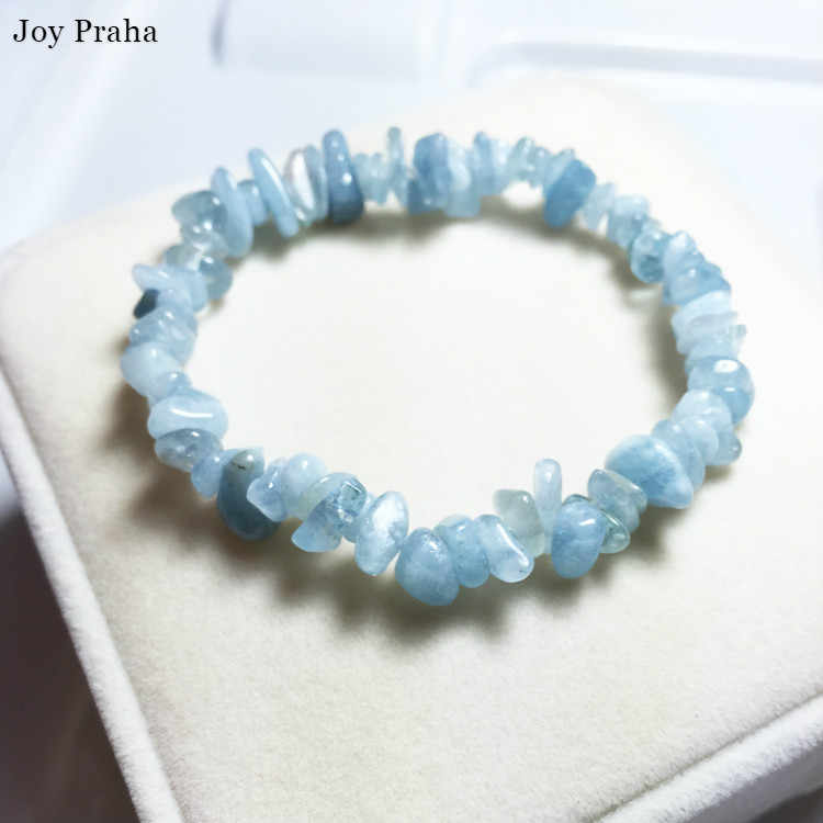 Natural aquamarine bracelet anklet / Gravel bracelets transport crystal women jewelry / wholesale dropshipping