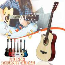 38 Inch Guitar Maple Acoustic Guitar for Beginners Getting Started Practicing Guitar Stringed Instruments with Bag