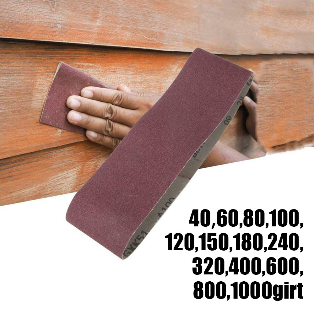 Wholesale 10Pcs 40-1000 Grit 75 X 533mm Sanding Belt Lapped 3 X 21inch Abrasive Sandpaper Brand New And High Quality