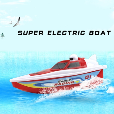 Dropshipping Aa Battery 1/64 Electric Funny Speed Boat For Bathroom Bathtub Swimming Kids Best Bath Toys Gift