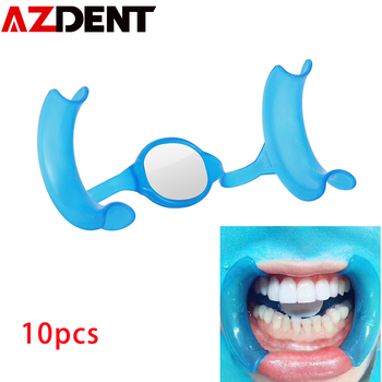 10pcs AZDENT M Type Mouth Opener Cheek Retractor  Dental Tools Dentist Material Dentistry Mirror Mouth Opener