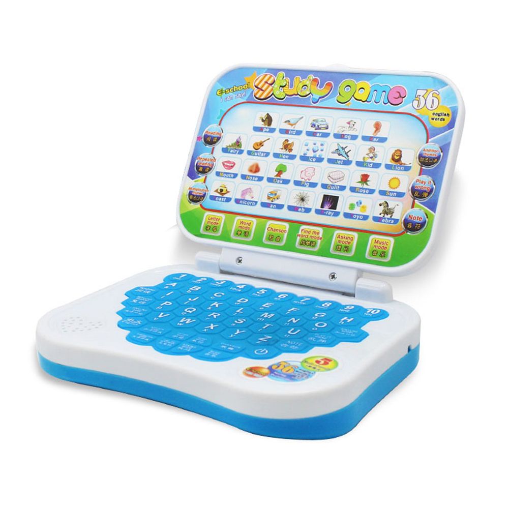 Foldable Chinese English Learning Computer <font><b>Laptop</b></font> Baby Kids <font><b>Toy</b></font> Gifts M09 image
