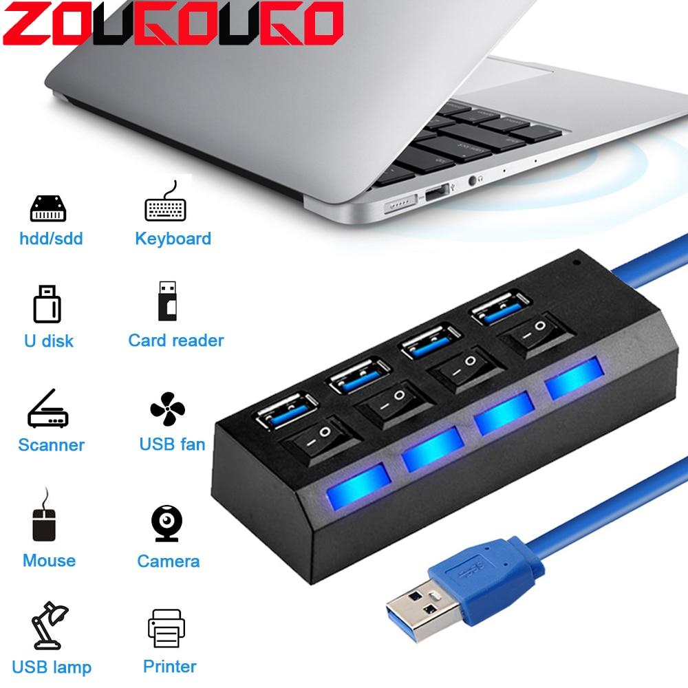 USB Hub 3.0 USB Splitter Multi USB 2.0 Hub Multiple 3/4/7 Port Hab Splitters Computer Accessories Hub For PC